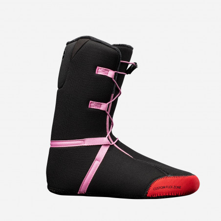 NDK Lunar boots, black color, rear 3/4 view