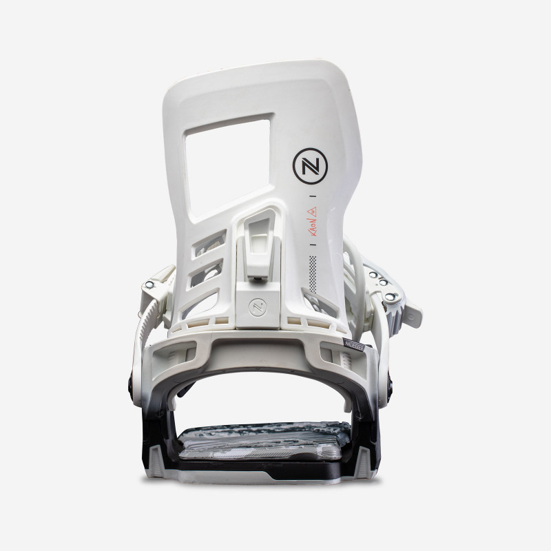 NDK Muon-W binding, white color, rear 3/4 view