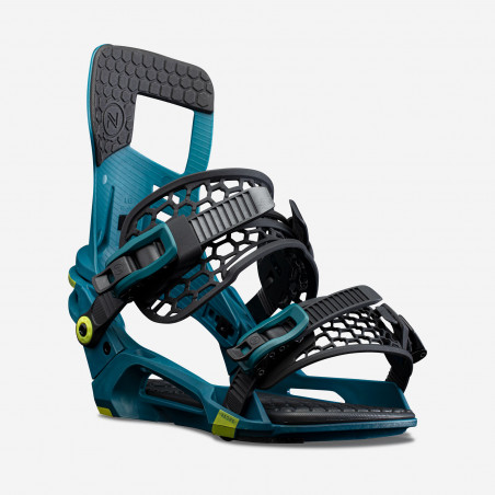NDK Micron Boots, blue color, rear 3/4 view