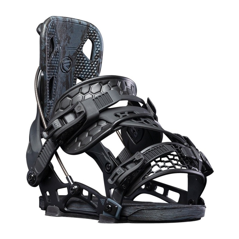 NDK CARBON binding, black color, rear 3/4 view